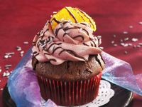 Chocolate Muffins with Spiced Wine Buttercream