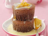 Chocolate Muffins with White Chocolate Orange Sauce recipe