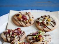 Chocolate, Nut and Fruit Biscuits recipe