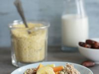 Chocolate Oatmeal with Fruit recipe