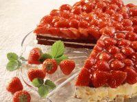 Chocolate Orange Cake with Strawberries recipe