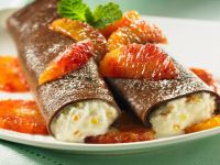 Chocolate Pancakes with Ricotta recipe
