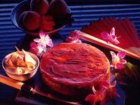 Chocolate Peach Torte recipe