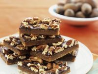 Chocolate-Pecan Nut Slices recipe