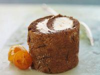 Chocolate Roll with Fruit Cream and Kumquats recipe