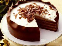 Chocolate-Rum Layer Cake recipe