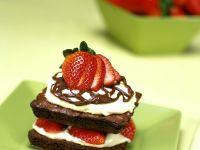 Chocolate Square Stacks with Berries recipe