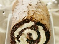 Chocolate Swiss Roll with Whipped Cream recipe
