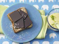 Chocolate Toast with Mango Smoothie recipe