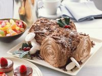 Festive Log Cake recipe