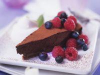 Chocolate Truffle Cake with Berries recipe