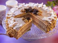 Chocolate-walnut Torte with Coconut recipe