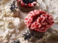 Chocolate Zombie Brain Halloween Muffins recipe