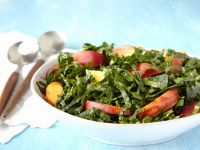 Chopped Kale Salad with Peaches recipe