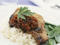 Chops with Med-style Compote recipe