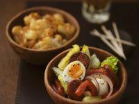 Chorizo and Egg Salad with Spicy Cauliflower recipe