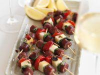 Chorizo Halloumi Skewers recipe