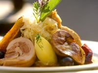 Choucroute with Pork and Sweet Potatoes recipe