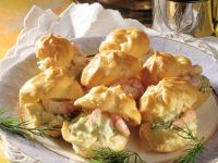 Choux Puffs with Crab Salad recipe