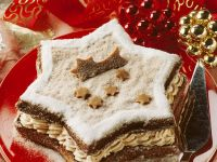 Christmas Cake with Mocha Cream recipe