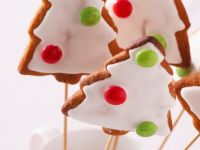 Christmas Tree Lollipop Cookies recipe