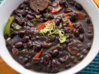 Chunky Black Bean and Pepper Soup recipe