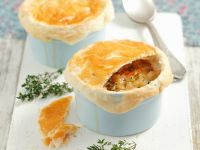 Chunky Onion Broth with Pastry Lids recipe