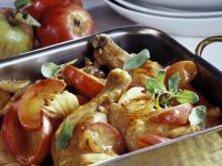 Cider Baked Chicken and Apples recipe
