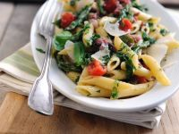 Citrus and Green Veg Penne recipe