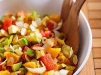 Citrus Salad with Avocado and Sliced almonds recipe