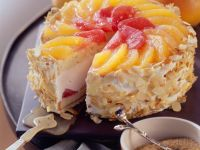 Tiered Fruit and Cream Cake recipe