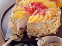 Tiered Fruit and Cream Cake recipe