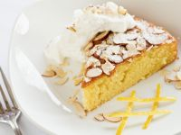 Citrus Olive Oil Cake with Almonds and Whipped Cream recipe