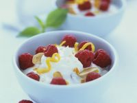 Citrus Pudding with Berries recipe