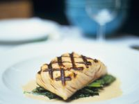 Citrus Salmon with Sauteed Spinach recipe