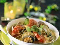 Clam Soup with Prawns recipe