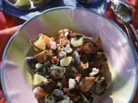Clams with Pork and Vegetables recipe