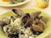 Shellfish with Basil Rice recipe