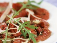 Raw Sliced Beef with Cheese and Rocket recipe