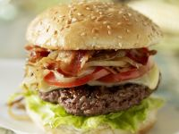 Classic Hamburger with Toppings recipe