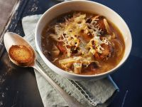 Classic Onion Soup with Gruyere Croutes recipe