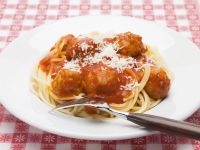 Classic Spaghetti and Meatballs with Parmesan recipe