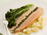 Classic Trout Fillet with Grapes recipe
