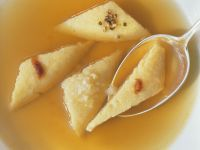 Clear Broth with Baked Cheese Dumplings recipe