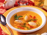 Clear Chicken Broth with Ricotta Dumplings recipe