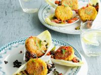 Coated Grain Cakes with Pulse Ragout recipe
