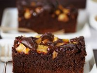 Cocoa and Fruit Sponge Slices recipe