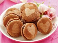 Cocoa Macarons With Chocolate Filling recipe
