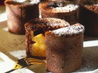 Cocoa Puddings with Compote recipe