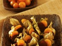 Cocoa Truffles with Physalis Slices recipe